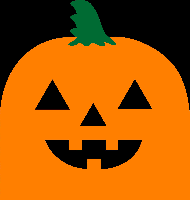 Jack o lantern faces. Pumpkin clipart solid
