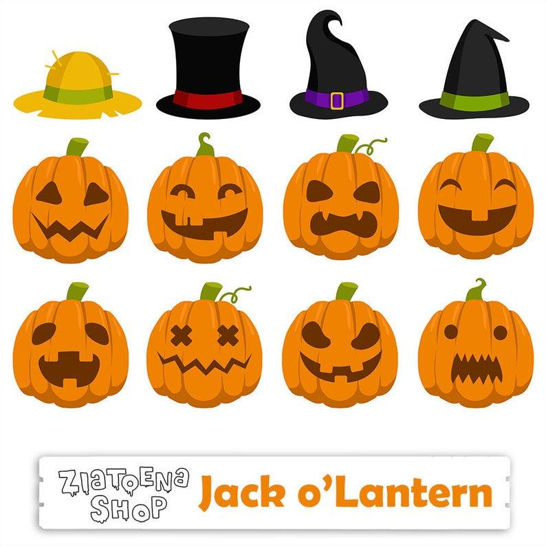 Jack o halloween digital. Pumpkin clipart lantern