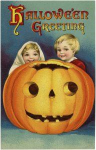 halloween kids with. Jackolantern clipart children's
