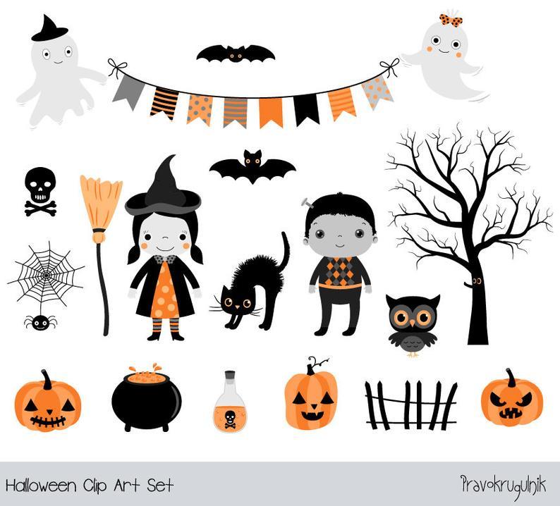 Halloween for kids cute. Jackolantern clipart children's