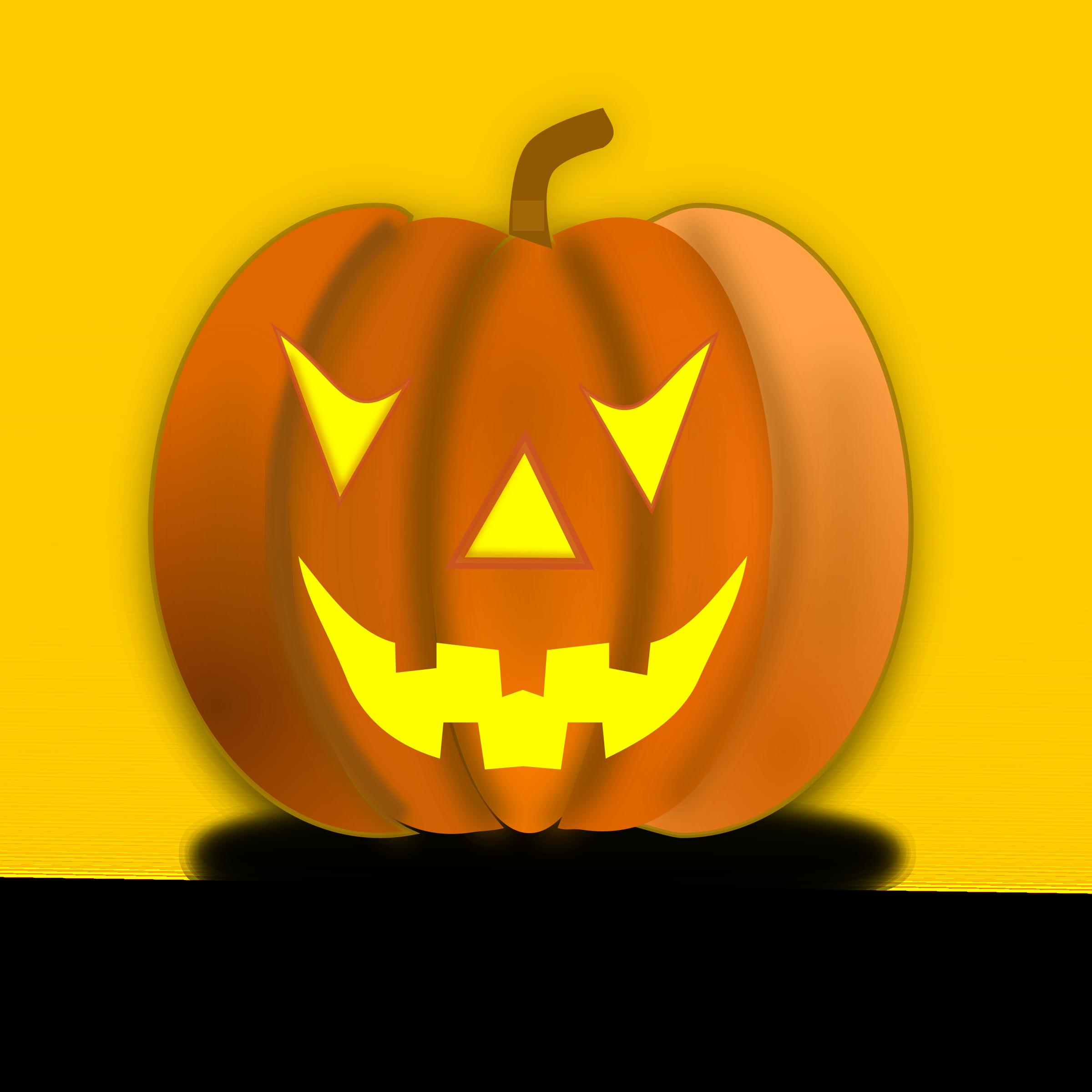 October carved pumpkin