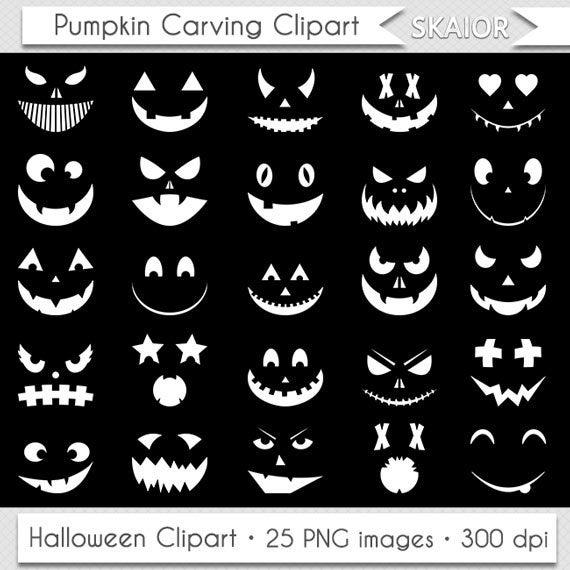 Jackolantern clipart pumpkin carving. White halloween