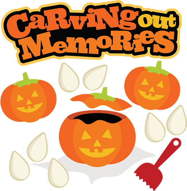 Memories clipart svg. Carving out halloween file