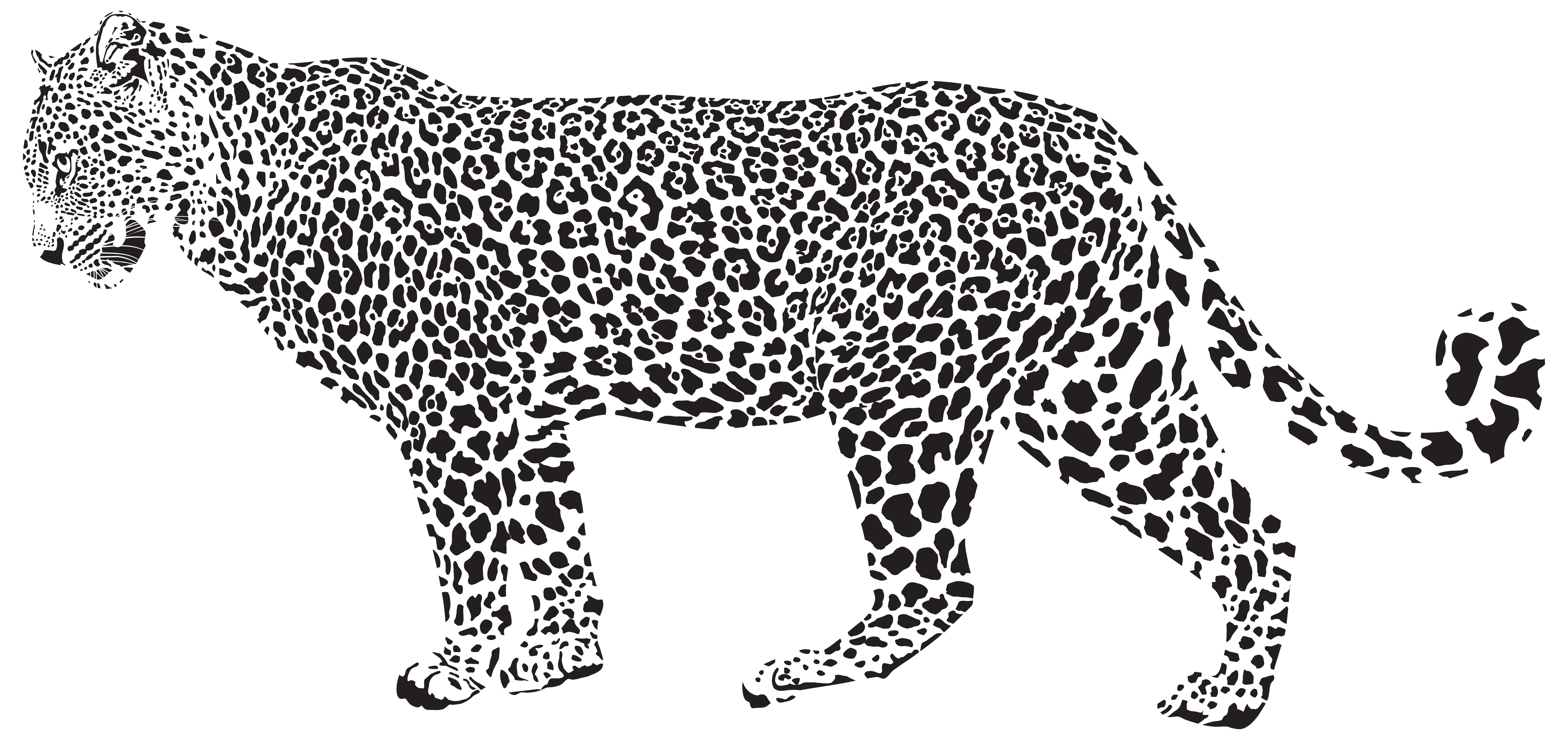 Jaguar clipart. Silhouette png transparent clip