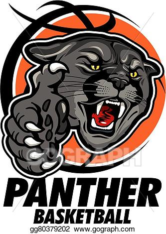Eps vector stock illustration. Panther clipart panther basketball
