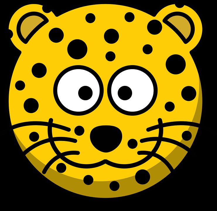 Jaguar clipart cartoon. Cute leopard png transparent