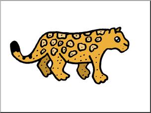 Clip art cute i. Jaguar clipart color