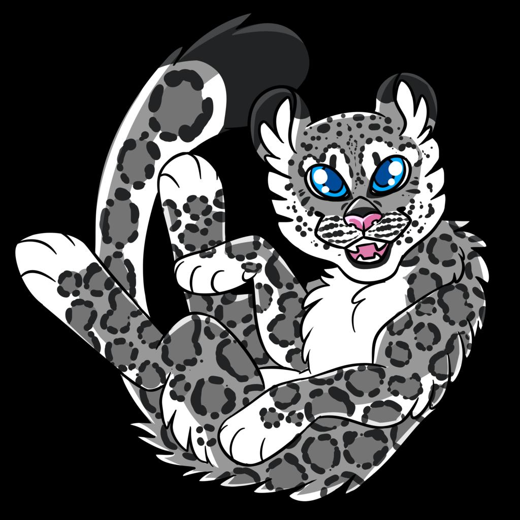 Leopard snow by draikinator. Jaguar clipart lineart