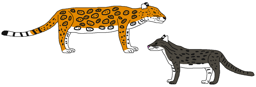 Swamp cats by wildandnaturefan. Jaguar clipart lineart