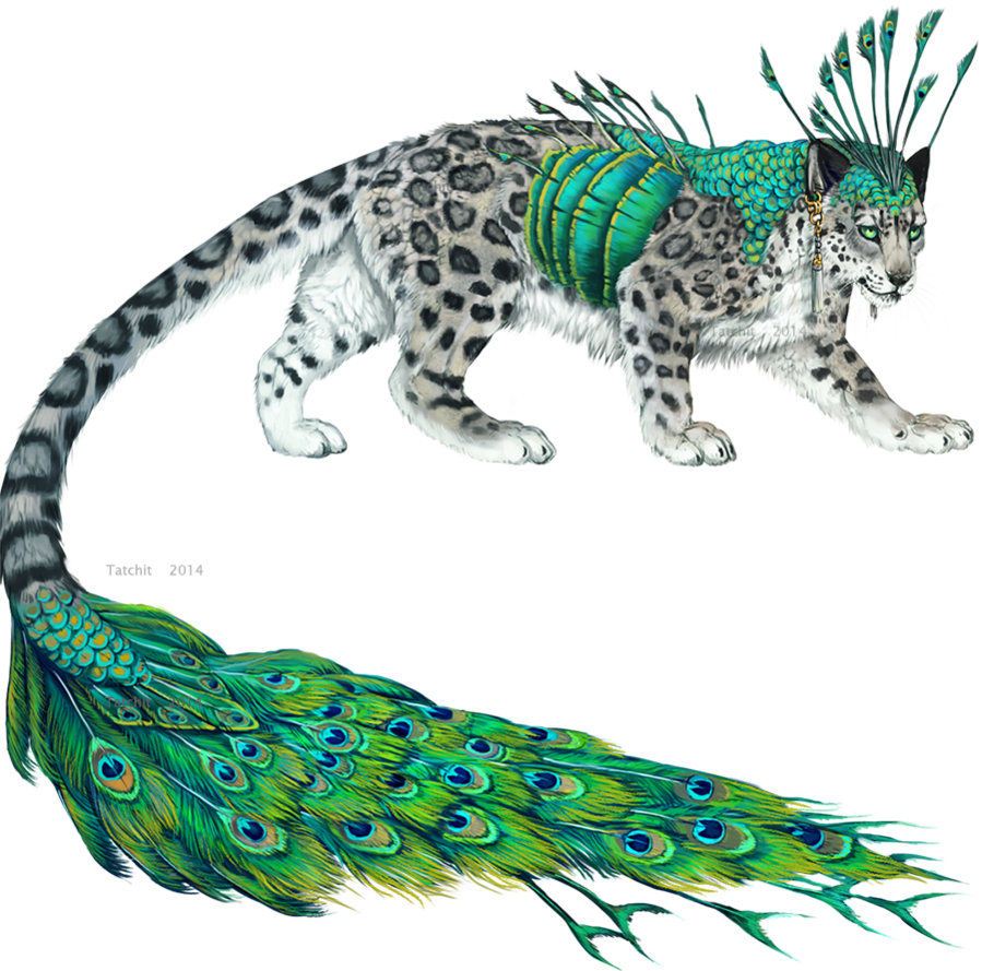 Fantasy creatures drawing at. Jaguar clipart snow leopard