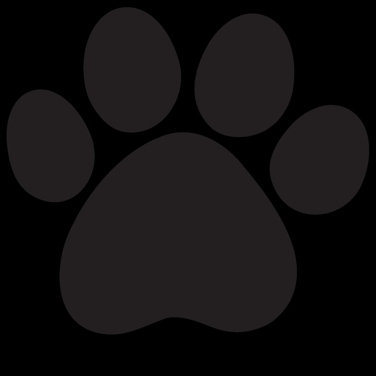 Jaguar paw print group. Pawprint clipart cheetah