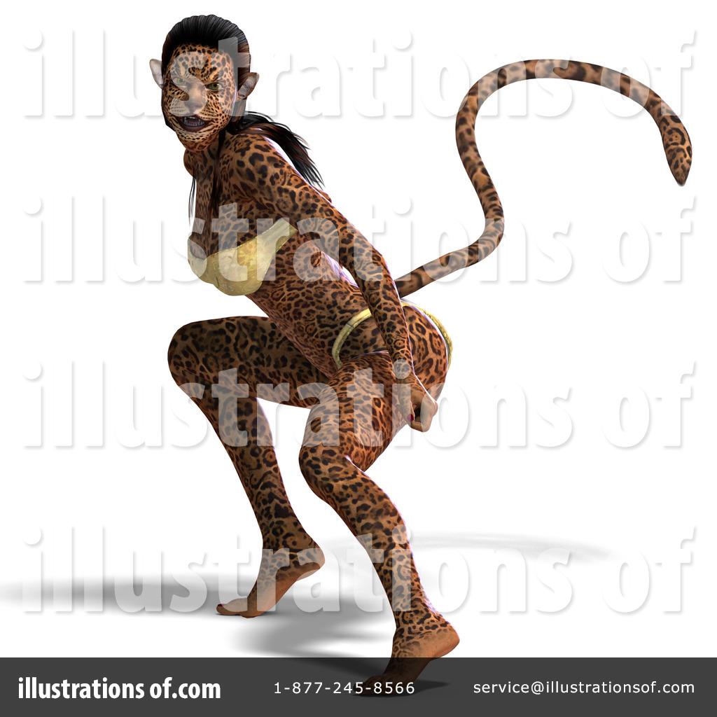 Illustration by ralf . Jaguar clipart woman