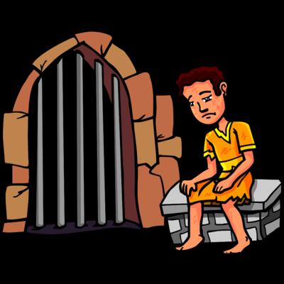 Image joseph jailed christart. Jail clipart