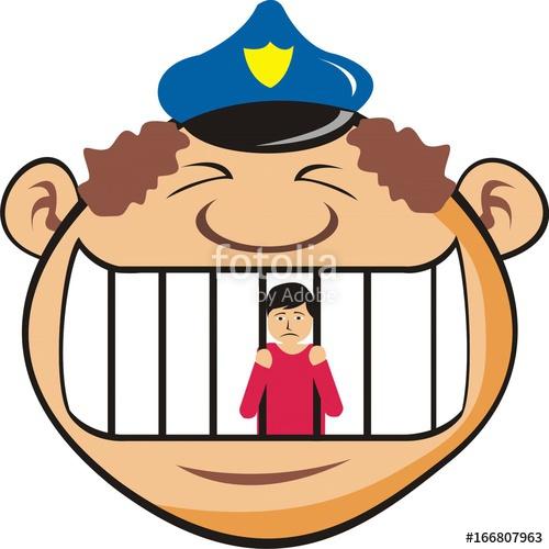 Jail clipart bad guy. In police vector illustration