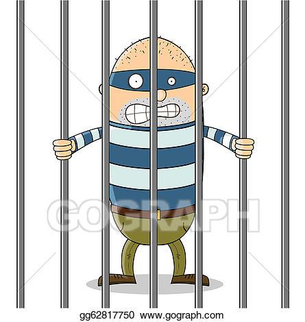Jail clipart bad guy. Clip art vector in