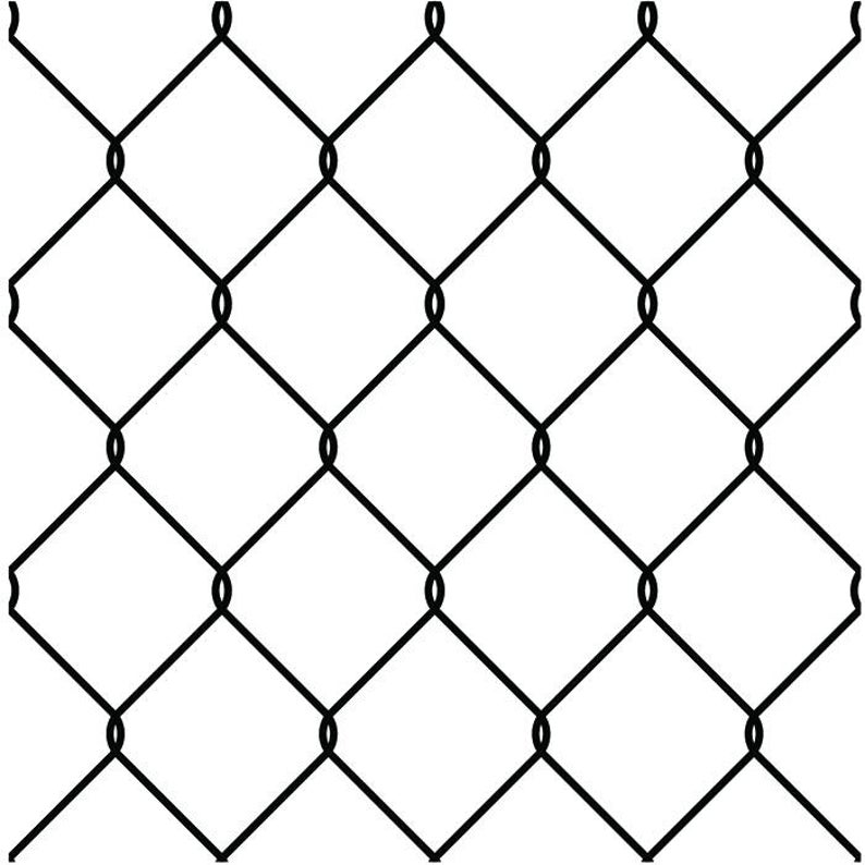 Chain link metal fencing. Jail clipart jail fence