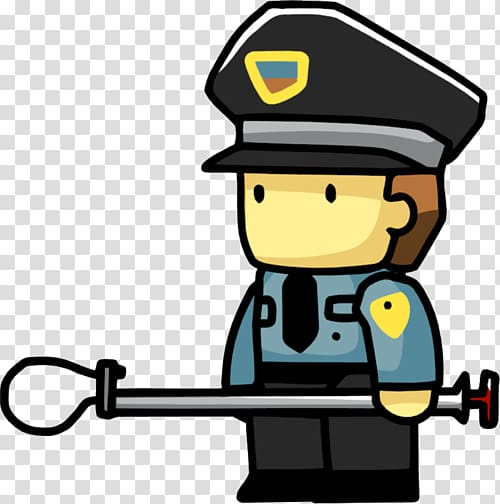 Scribblenauts prison officer police. Pilot clipart security guard logo