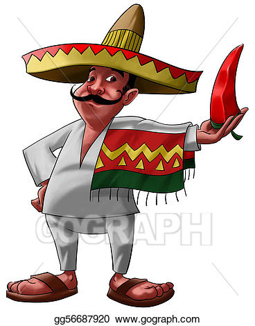 Clip art the mexican. Jalapeno clipart hat