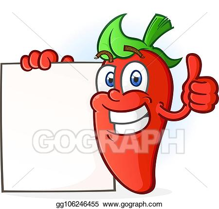 Jalapeno clipart hot pepper. Vector stock cartoon character