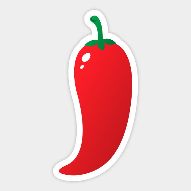 Hot chili pepper sticker. Jalapeno clipart red jalapeno