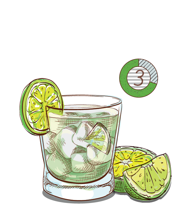 Cocktails espirito xvi ultra. Jalapeno clipart sliced