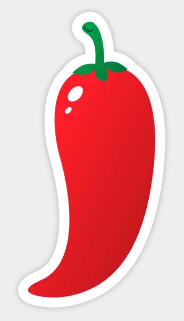 Jalapeno clipart spicy pepper. Sticker featuring a cartoon