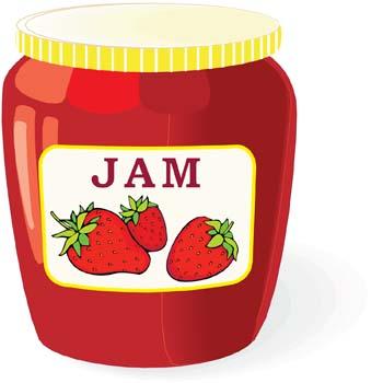Jar . Jam clipart
