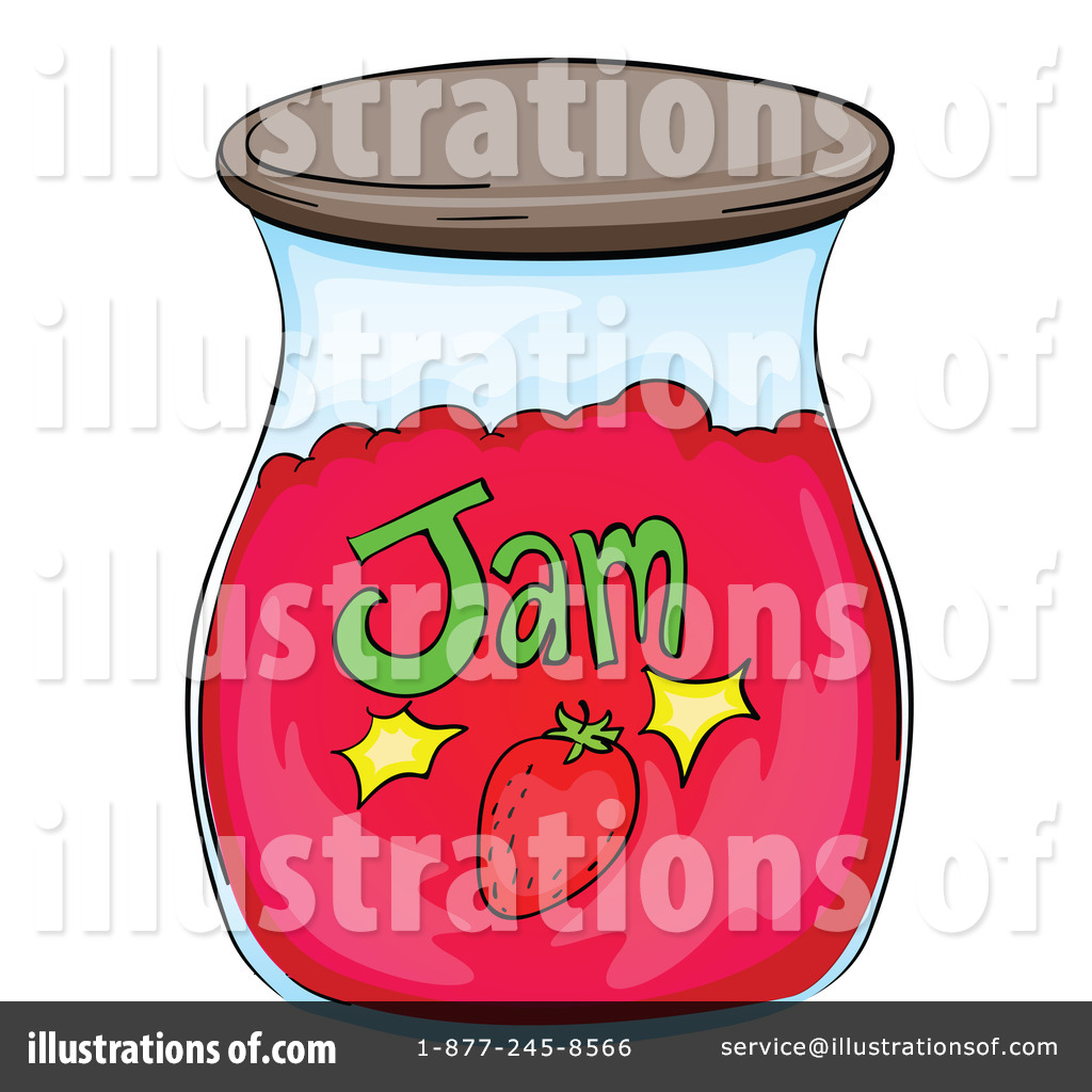 Jam clipart. Illustration by graphics rf