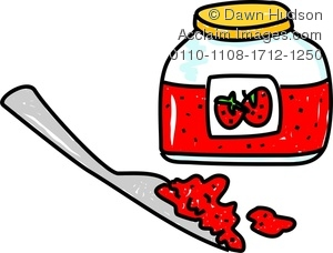 Image of a whimsical. Jam clipart