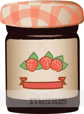 Jar fruit . Jam clipart