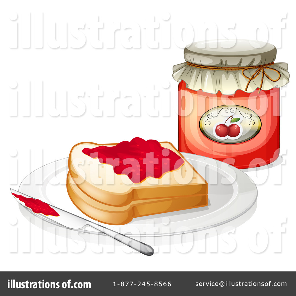 Toast and illustration by. Jam clipart