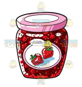 Strawberries clipart jar. A of strawberry jam