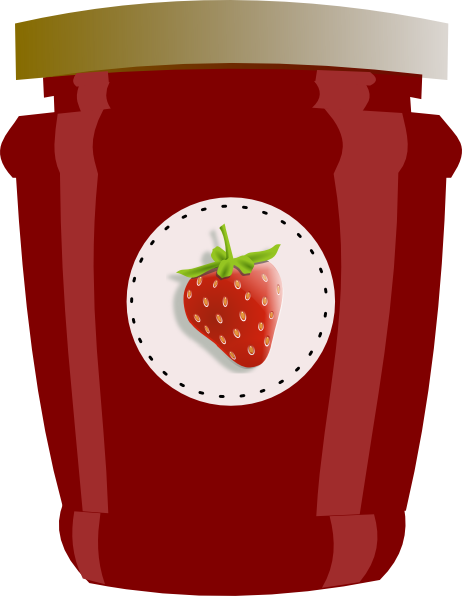 Strawberry clip art at. Jam clipart