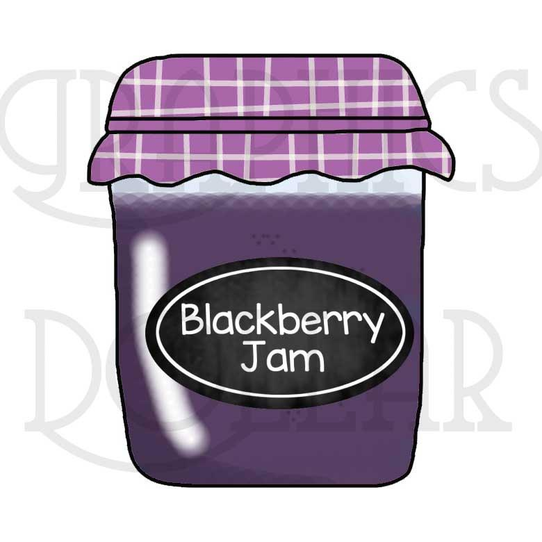 Jelly clipart blackberry jam. Jellies and jams clip