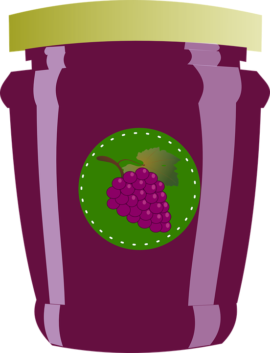 Jellies jar lid free. Jelly clipart blackberry jam