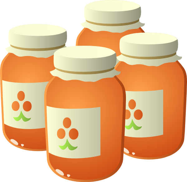 Jelly clipart jam bottle. Cloudberry clip art at