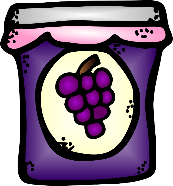 Jelly clipart blackberry jam. Group peanut butter and
