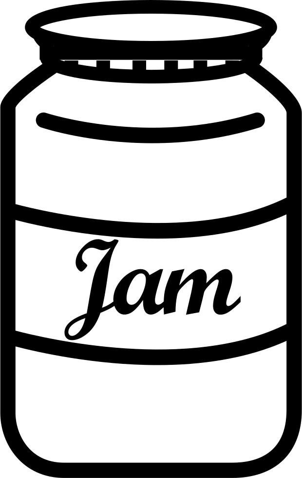 Jar png hd transparent. Jam clipart outline
