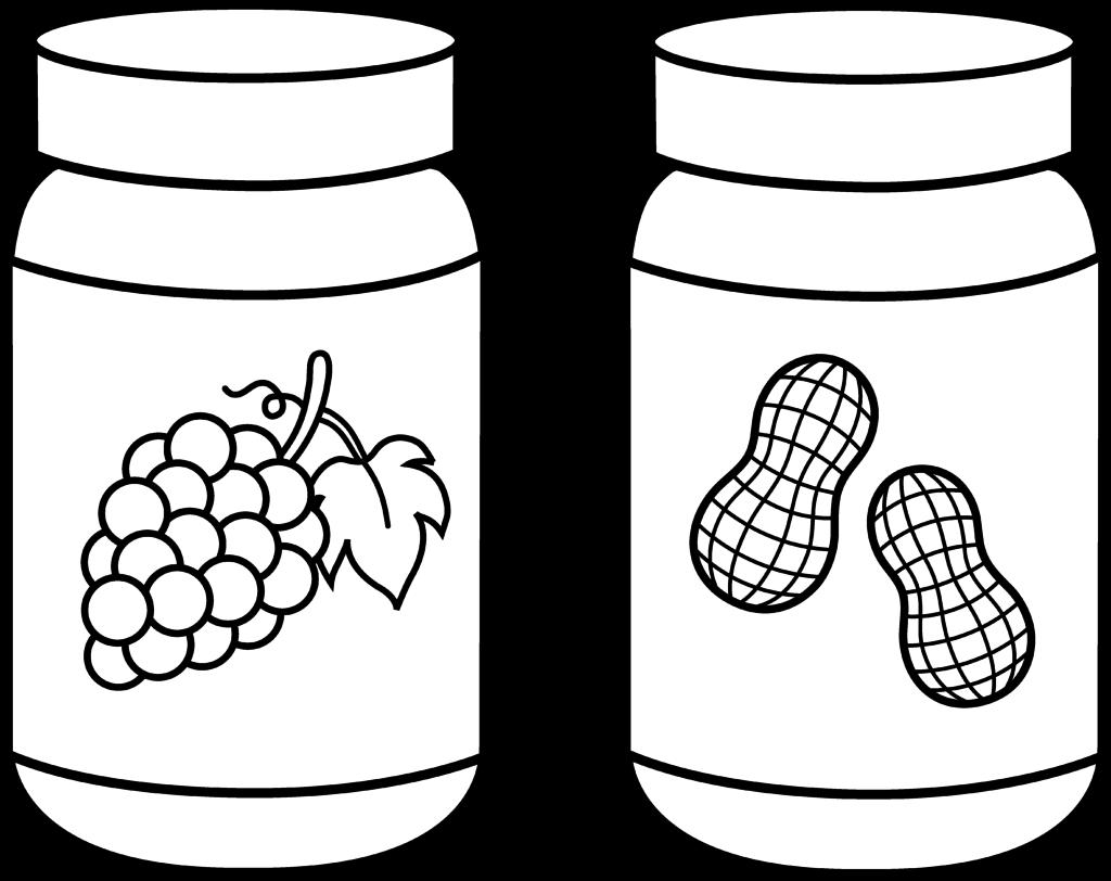 Jar black and white. Jam clipart outline