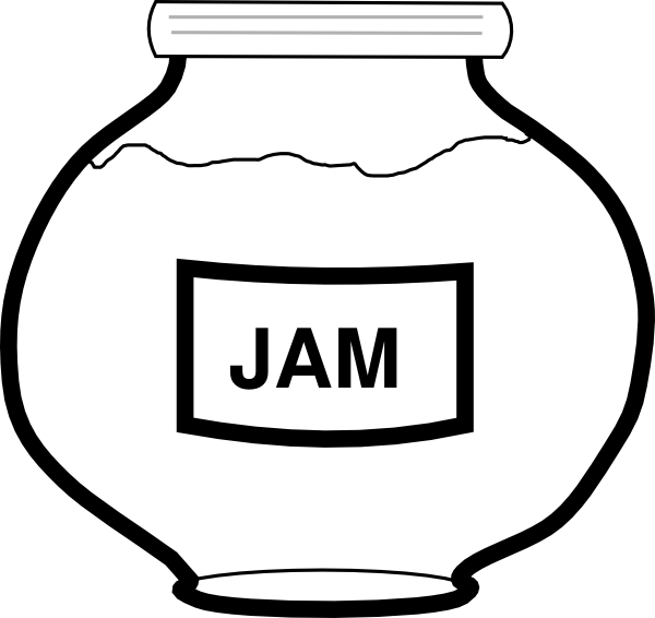Jar clip art at. Jam clipart outline
