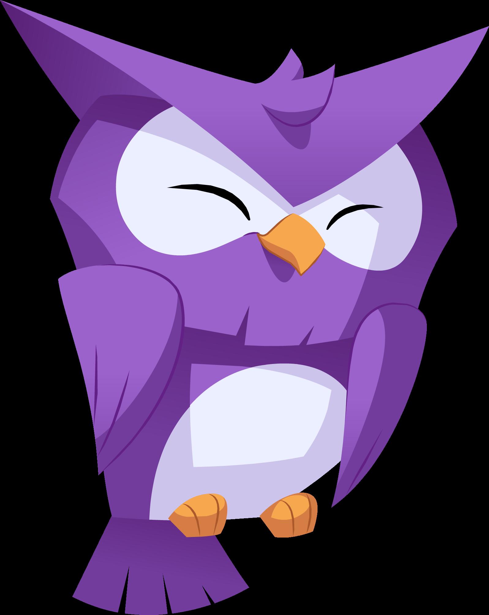 Image owl png animal. Jam clipart purple