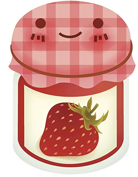 Jelly clipart strawberry jelly. Amazon com cute happy