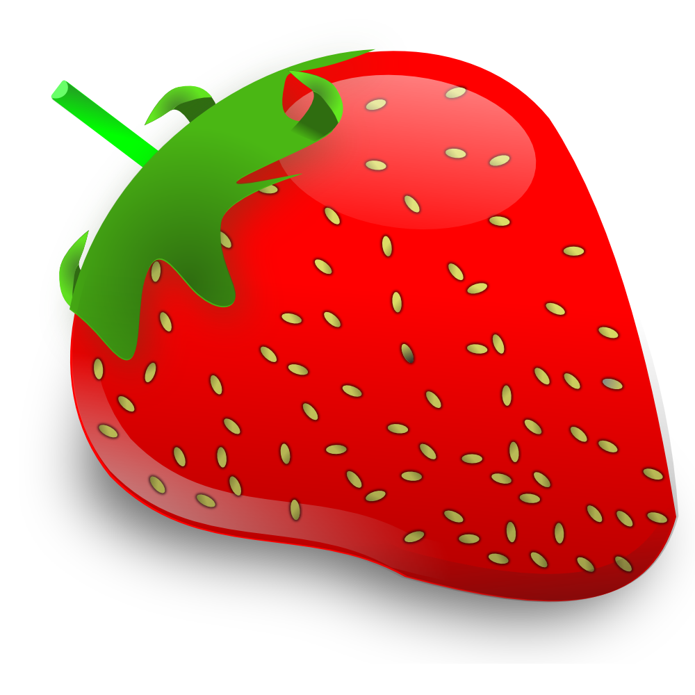 Ripe Red Strawberry free image clip art