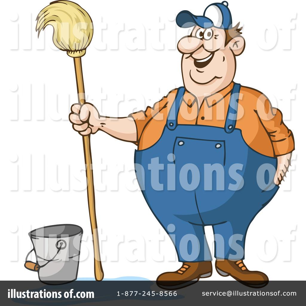 Janitor clipart. Illustration by holger bogen