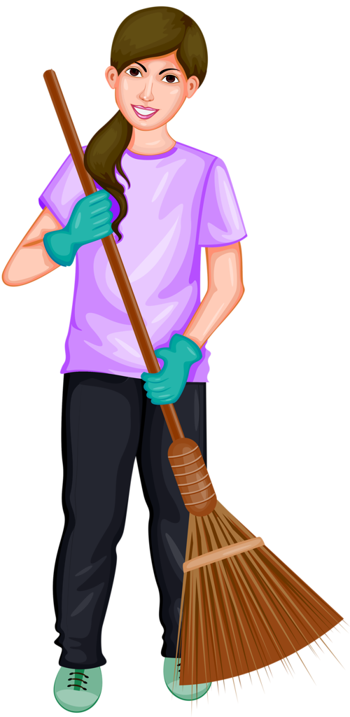 png laundry and. Janitor clipart female