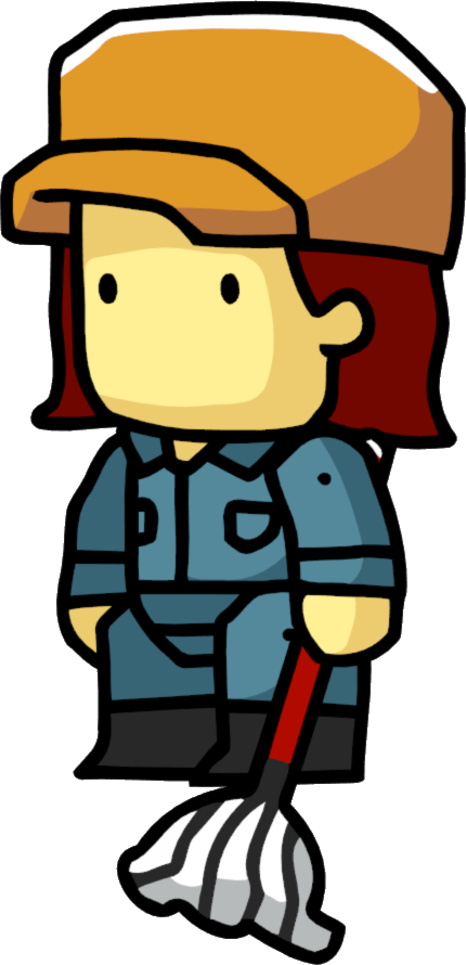 Image png scribblenauts wiki. Janitor clipart female
