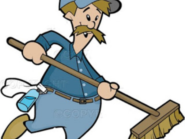 Janitor clipart housekeeping staff. Free download clip art