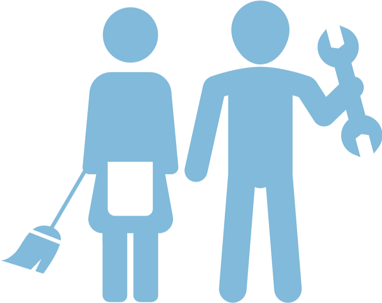 Janitor clipart housekeeping staff. Our services chs india