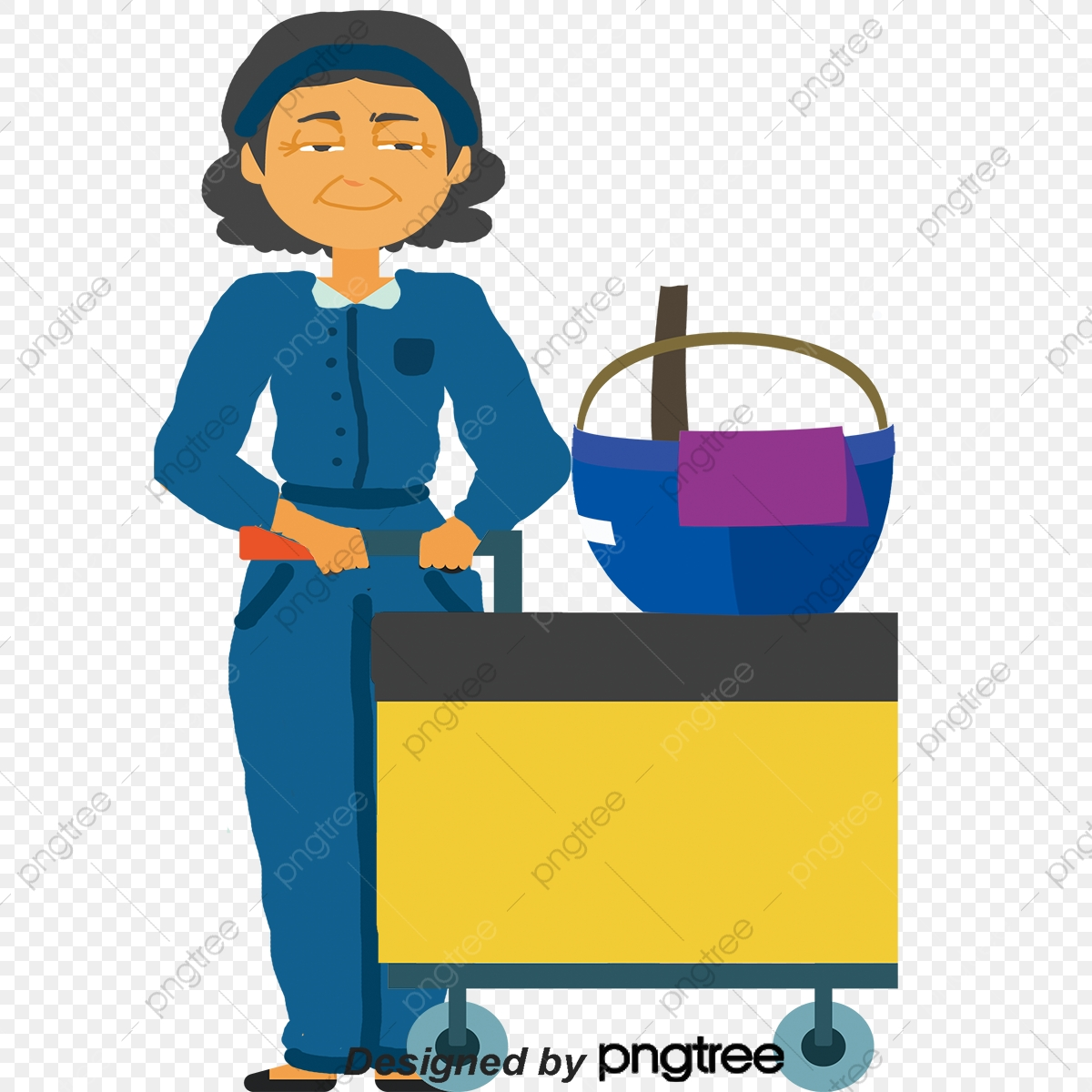 Janitor clipart housekeeping staff. Vector png domestic company