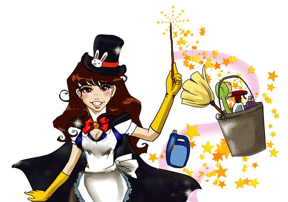 Maid clipart janitor. House and office cleaning